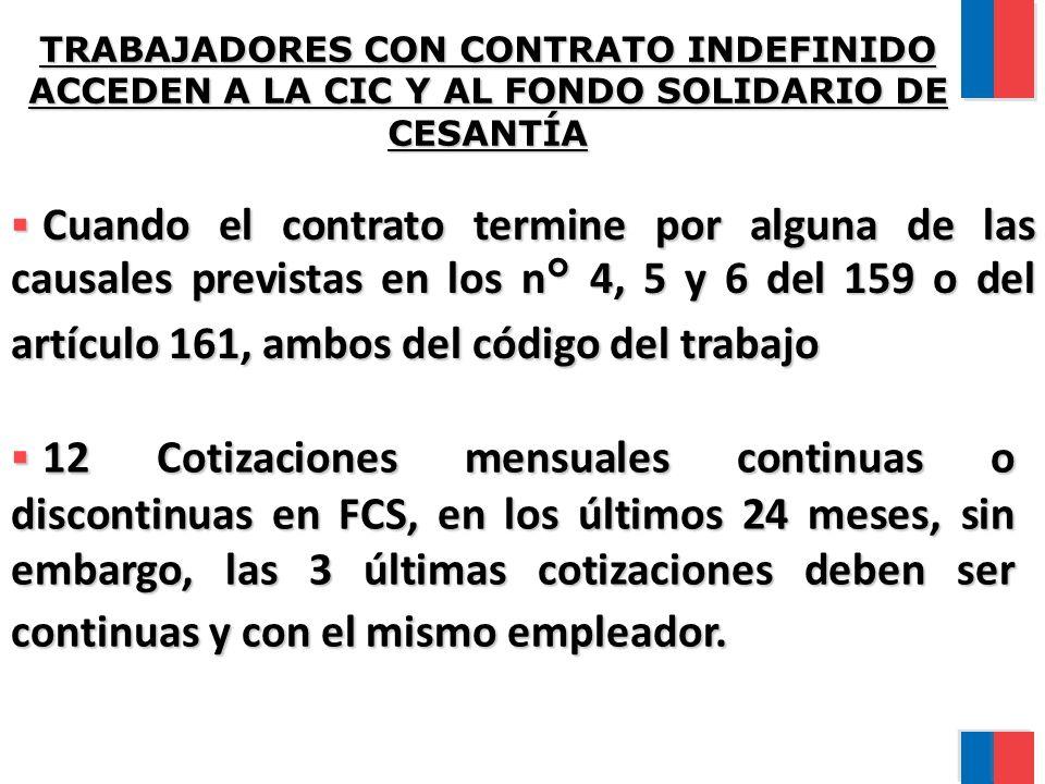 TRABAJADORES CON CONTRATO INDEFINIDO ACCEDEN A LA CIC Y AL FONDO SOLIDARIO DE CESANTÍA