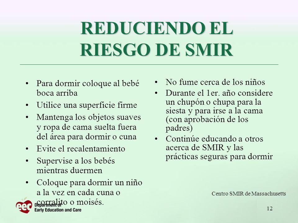 REDUCIENDO EL RIESGO DE SMIR
