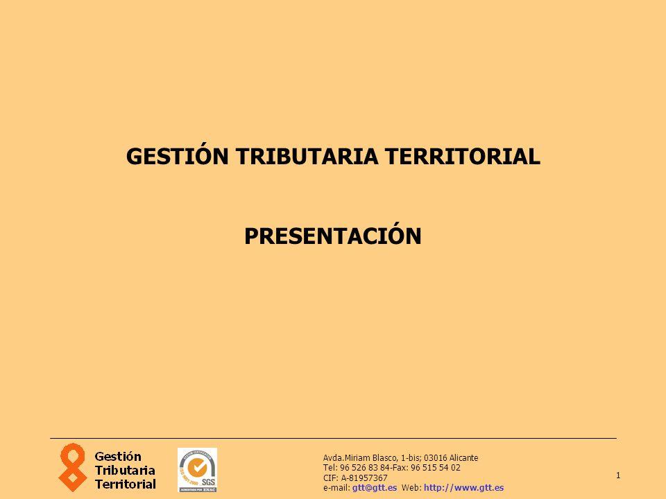 GESTIÓN TRIBUTARIA TERRITORIAL PRESENTACIÓN