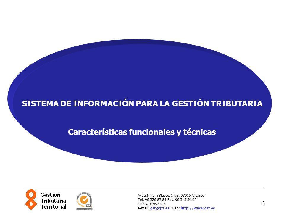 SISTEMA DE INFORMACIÓN PARA LA GESTIÓN TRIBUTARIA