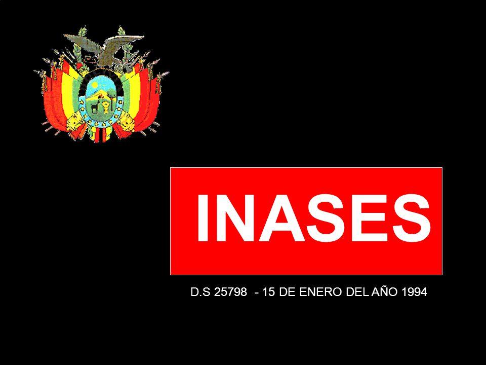INASES D.S 25798 - 15 DE ENERO DEL AÑO 1994