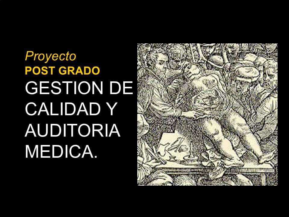 Proyecto POST GRADO GESTION DE CALIDAD Y AUDITORIA MEDICA.