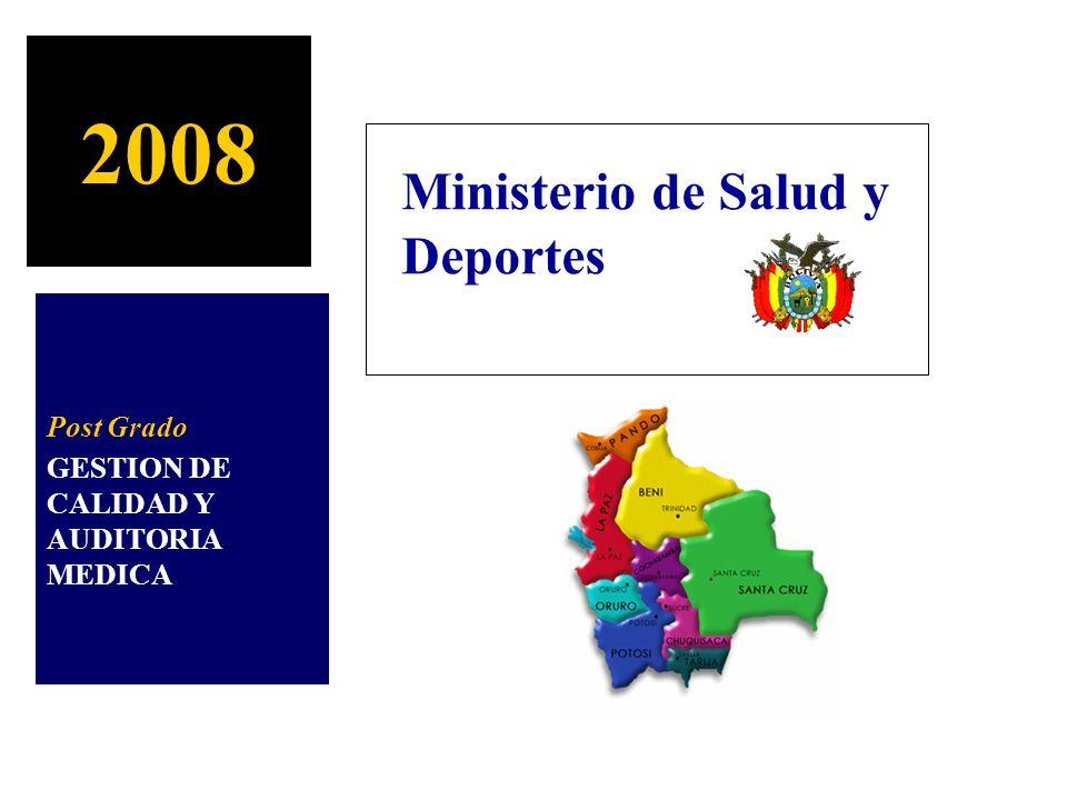 2008 Ministerio de Salud y Deportes Post Grado