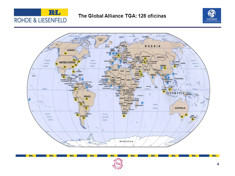 The Global Alliance TGA: 128 oficinas
