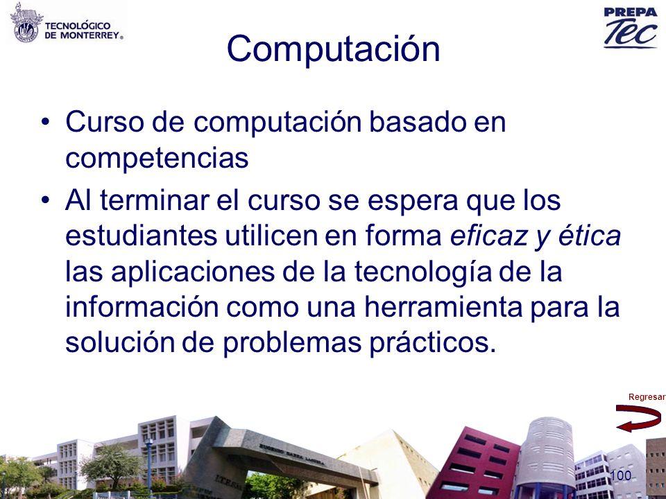Computación Curso de computación basado en competencias