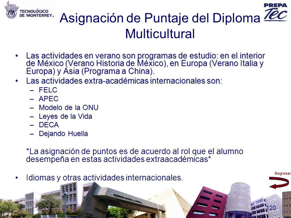 Asignación de Puntaje del Diploma Multicultural