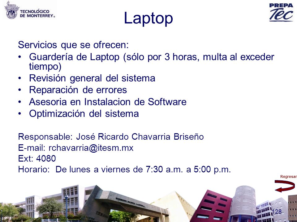 Laptop Servicios que se ofrecen: