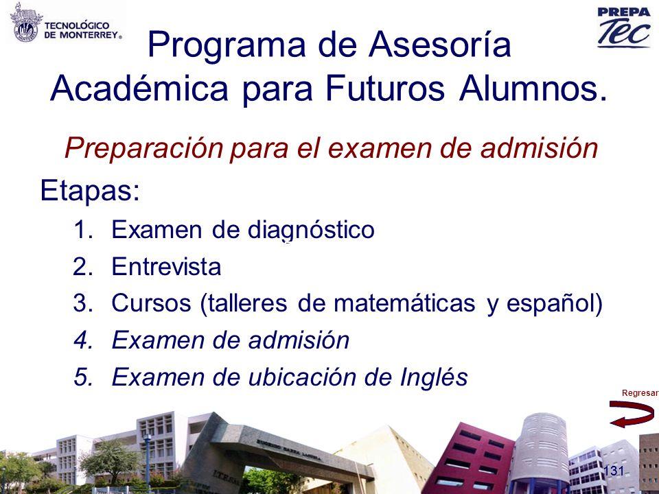 Programa de Asesoría Académica para Futuros Alumnos.
