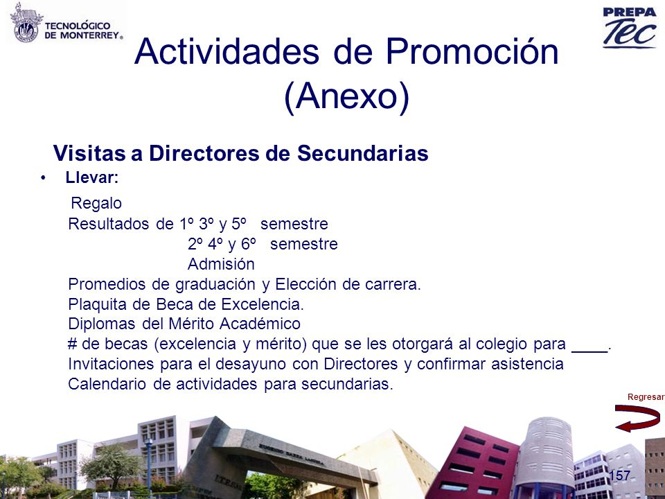 Actividades de Promoción (Anexo)