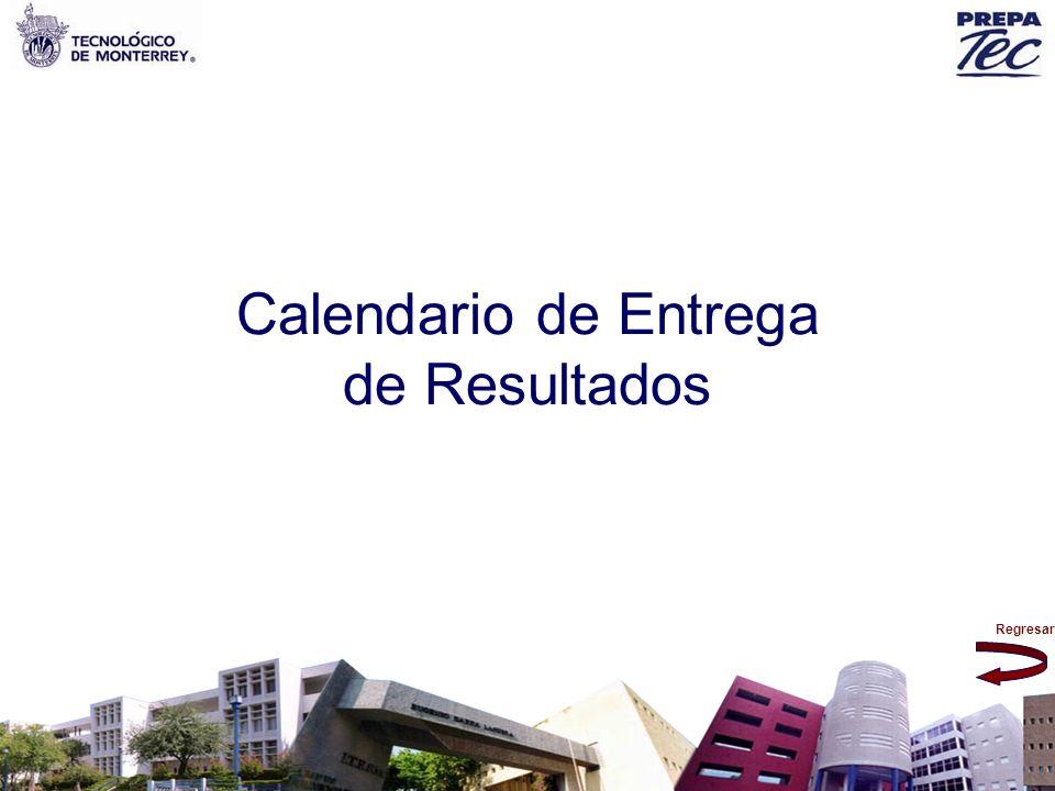 Calendario de Entrega de Resultados