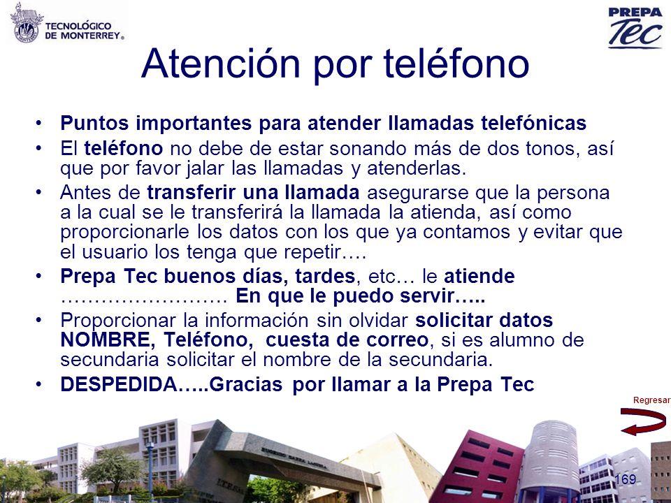 Atención por teléfono Puntos importantes para atender llamadas telefónicas.
