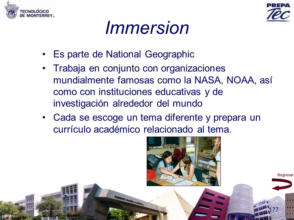 Immersion Es parte de National Geographic