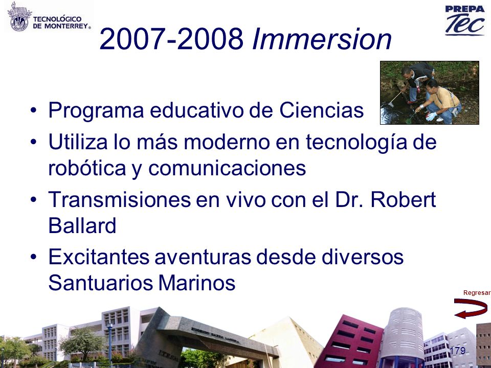 2007-2008 Immersion Programa educativo de Ciencias