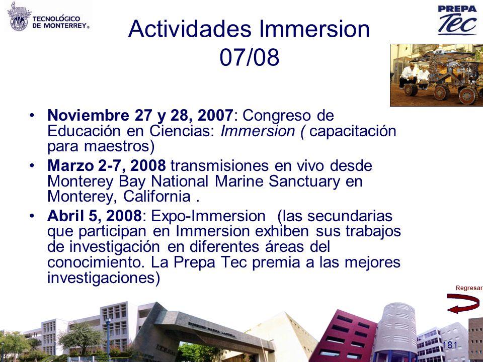 Actividades Immersion 07/08