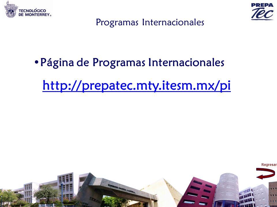 Página de Programas Internacionales