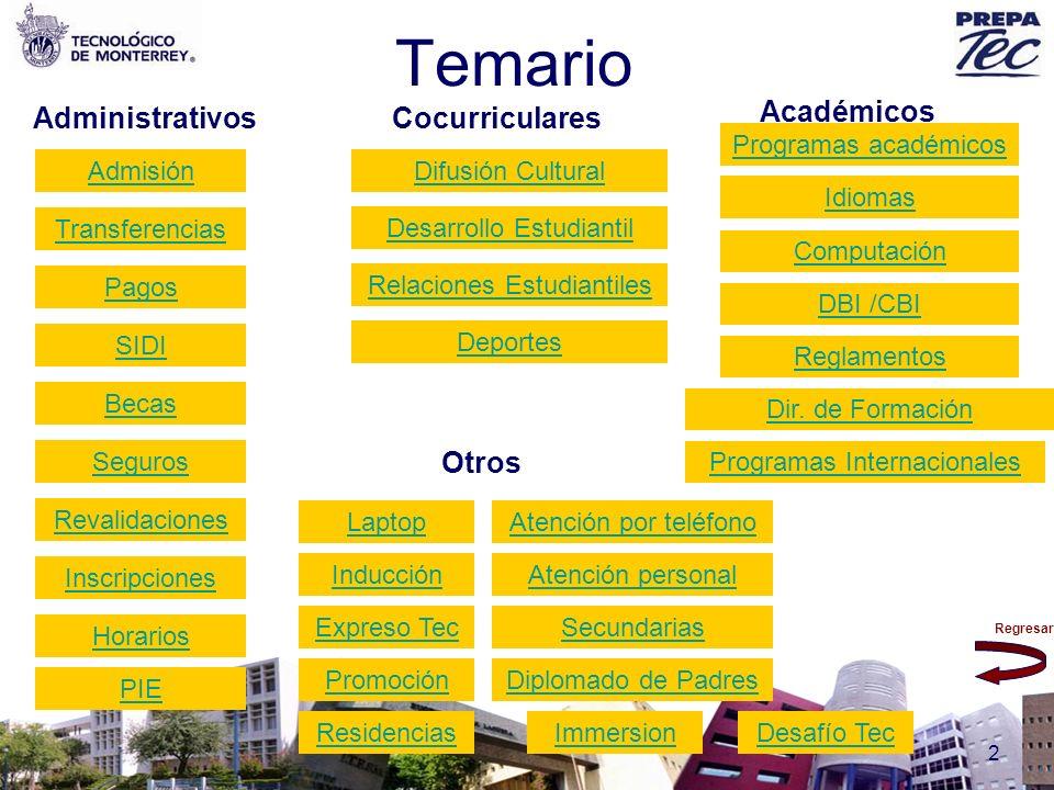 Temario Académicos Administrativos Cocurriculares Otros