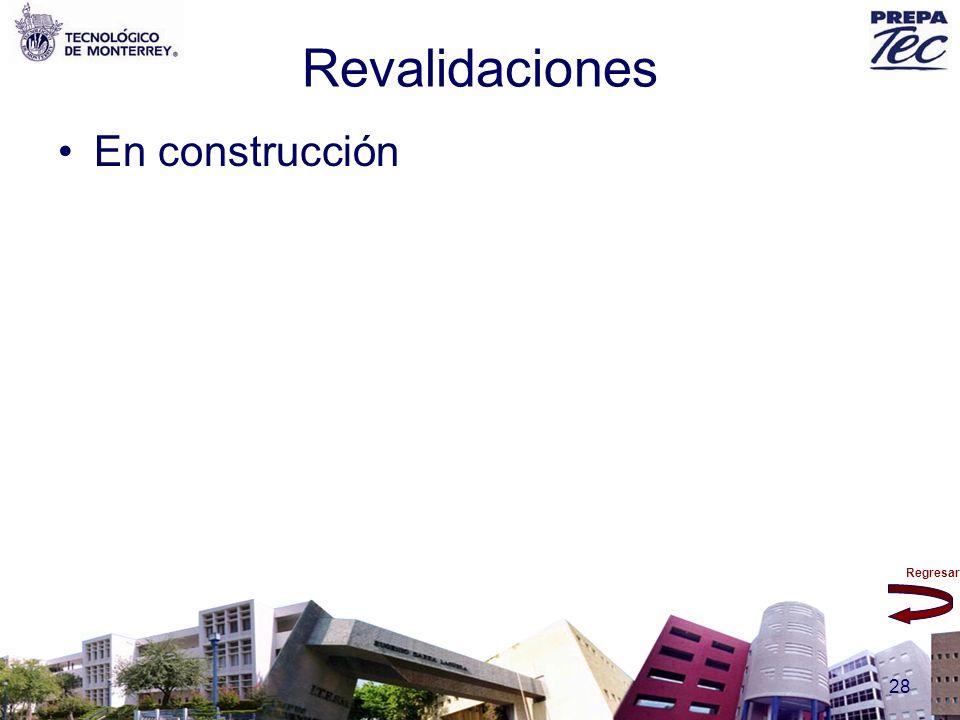 Revalidaciones En construcción
