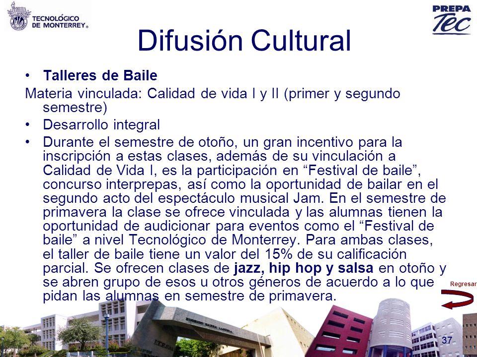 Difusión Cultural Talleres de Baile