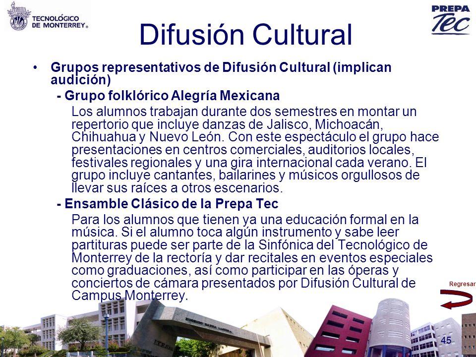 Difusión Cultural Grupos representativos de Difusión Cultural (implican audición) - Grupo folklórico Alegría Mexicana.