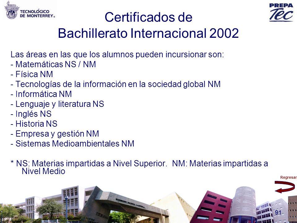 Certificados de Bachillerato Internacional 2002