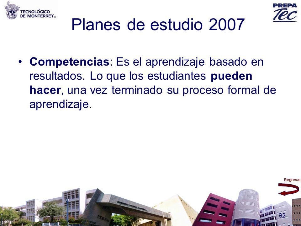 Planes de estudio 2007