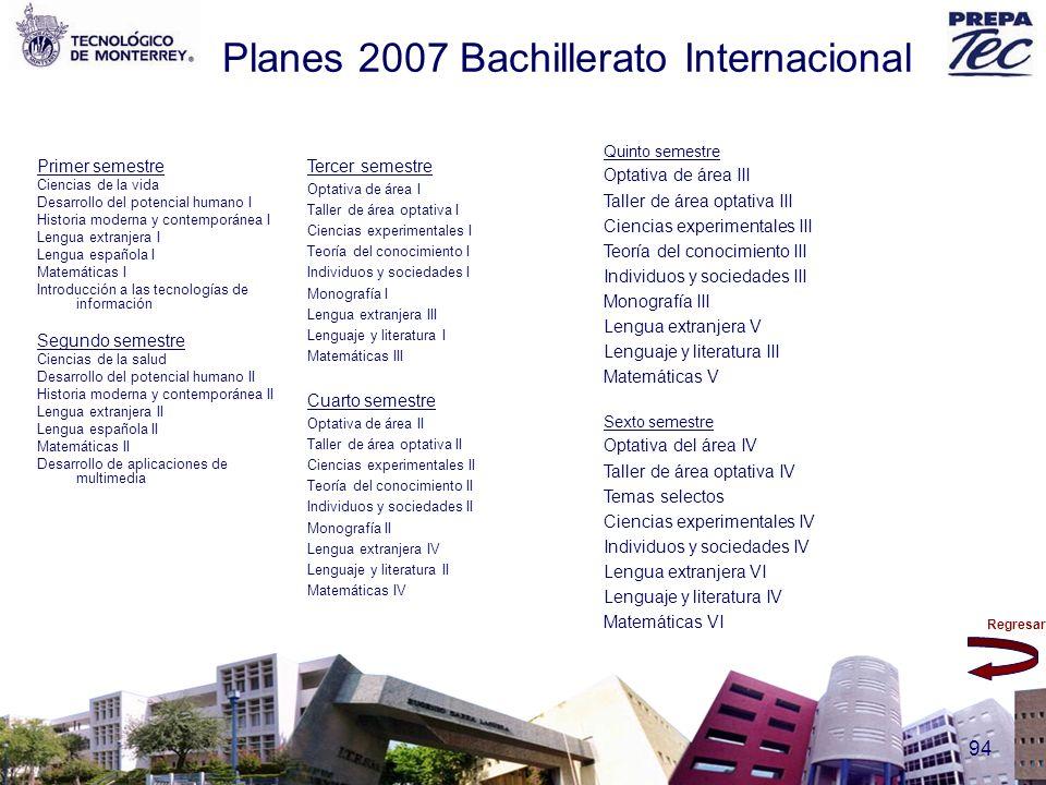 Planes 2007 Bachillerato Internacional
