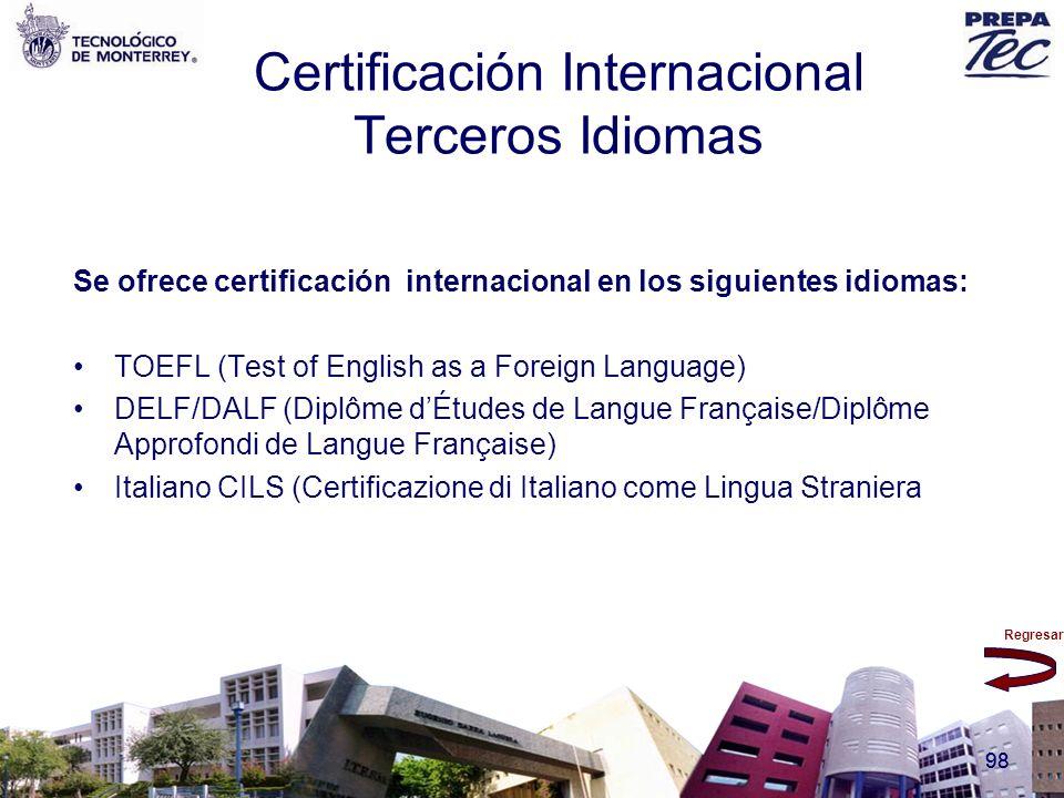 Certificación Internacional Terceros Idiomas