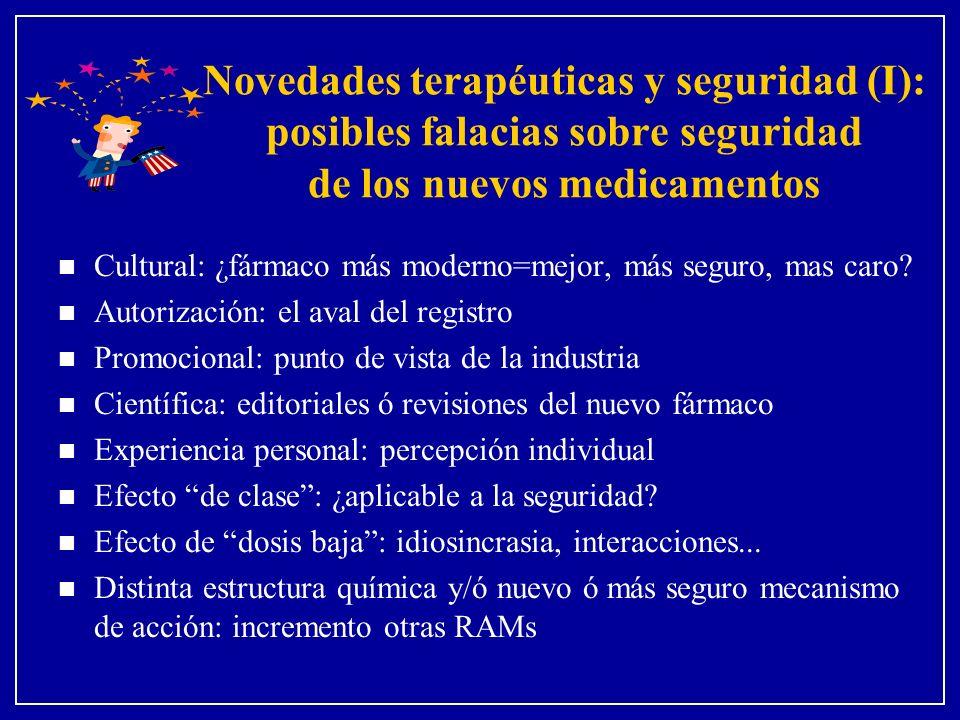 Novedades terapéuticas y seguridad (I): posibles falacias sobre seguridad de los nuevos medicamentos