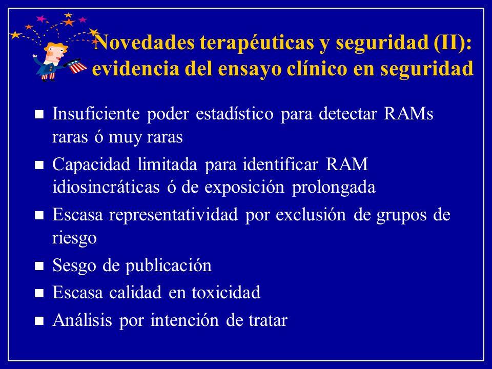 Novedades terapéuticas y seguridad (II): evidencia del ensayo clínico en seguridad
