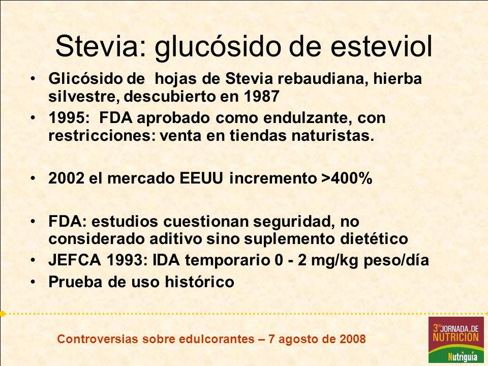 Stevia: glucósido de esteviol