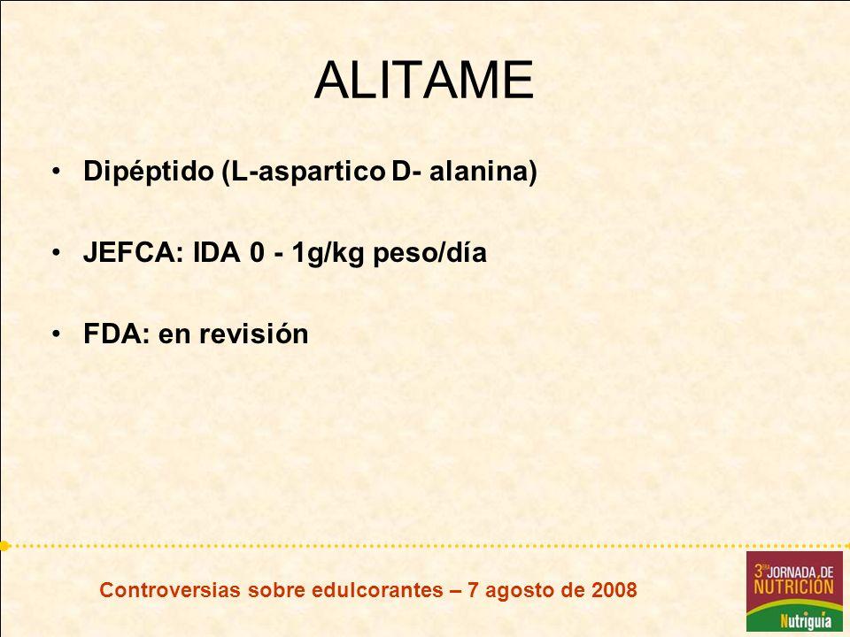 ALITAME Dipéptido (L-aspartico D- alanina)