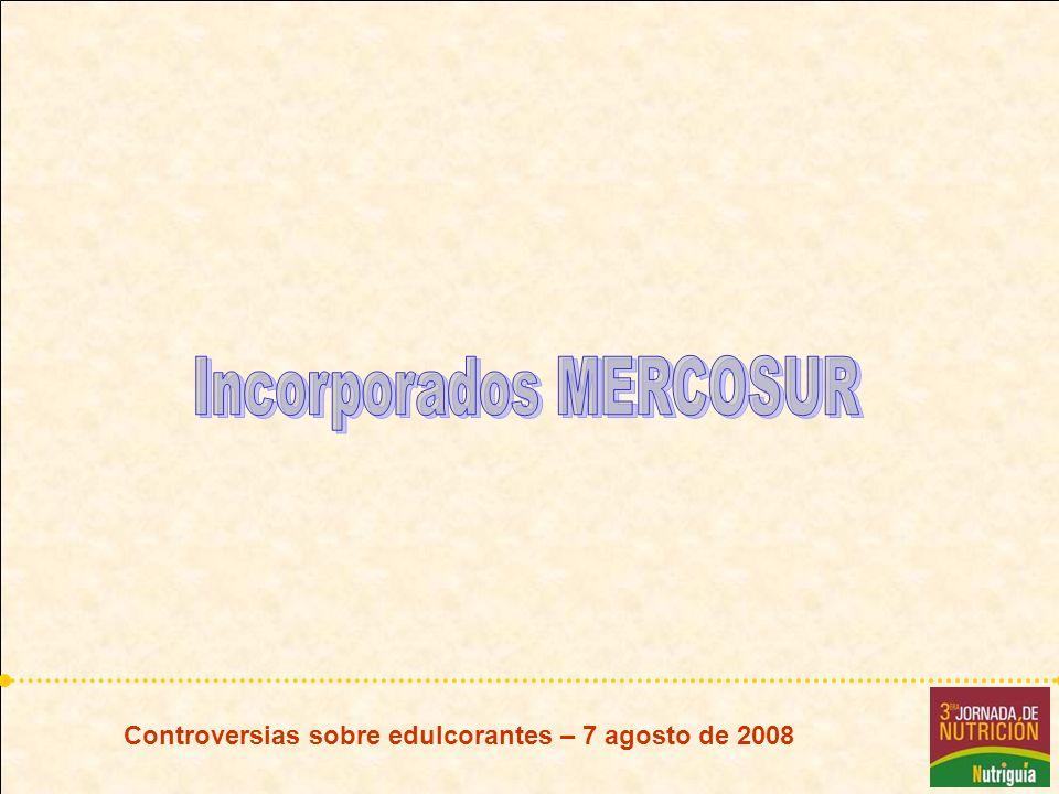 Incorporados MERCOSUR