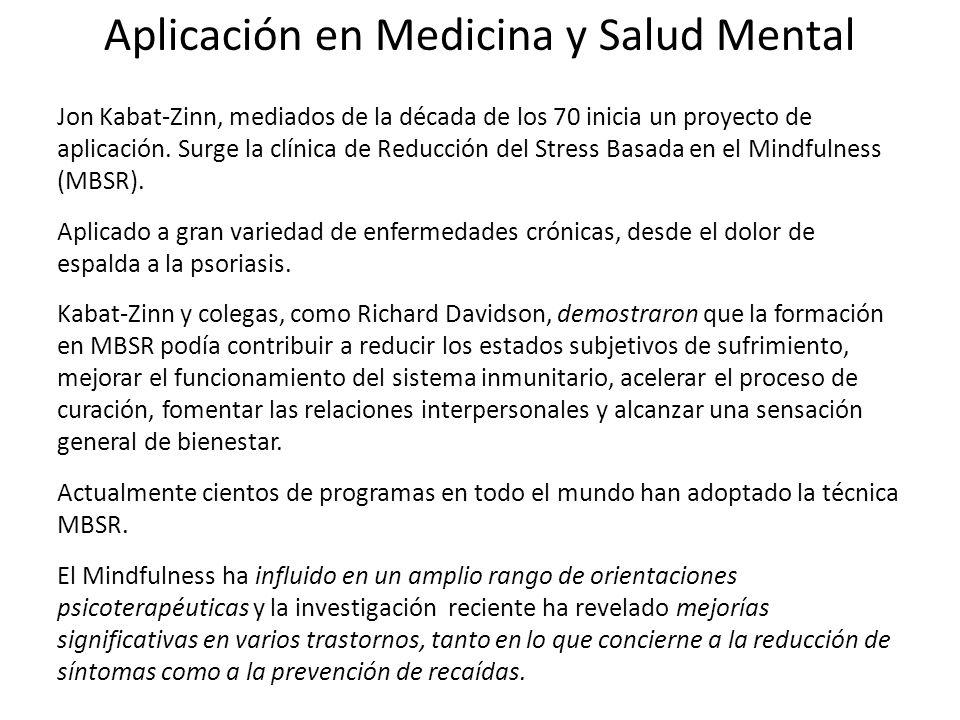 Aplicación en Medicina y Salud Mental