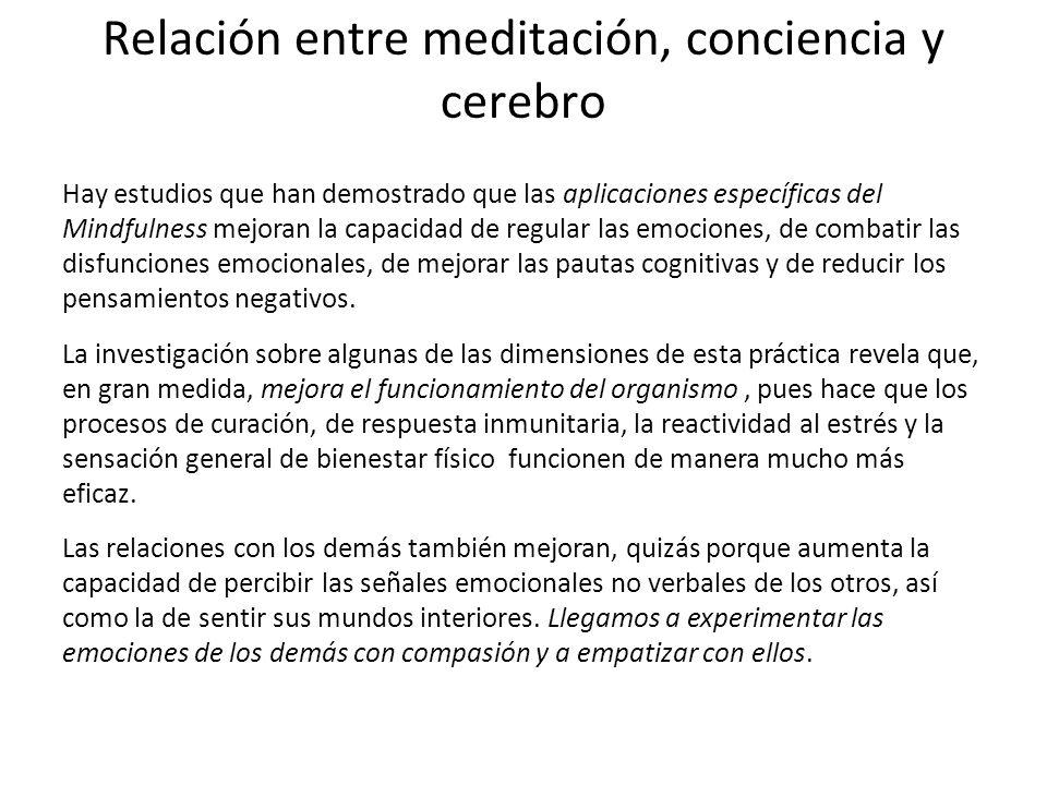 Relación entre meditación, conciencia y cerebro