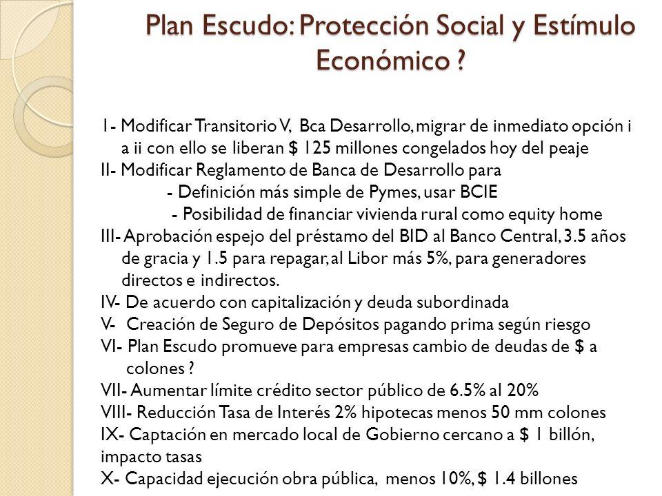 Plan Escudo: Protección Social y Estímulo Económico