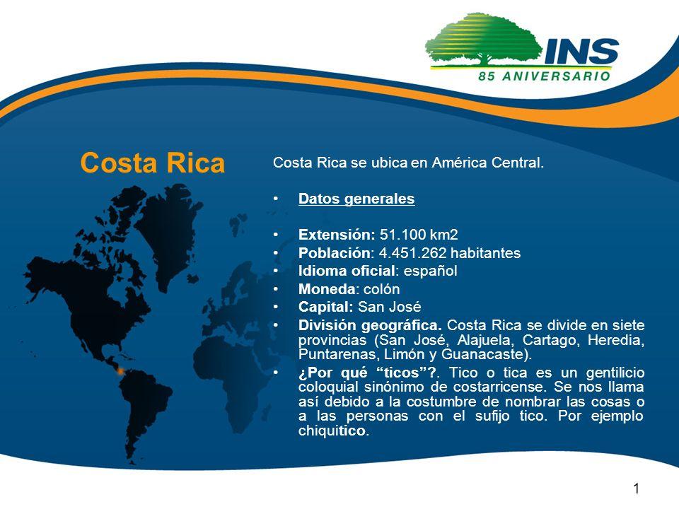 Costa Rica Costa Rica se ubica en América Central. Datos generales