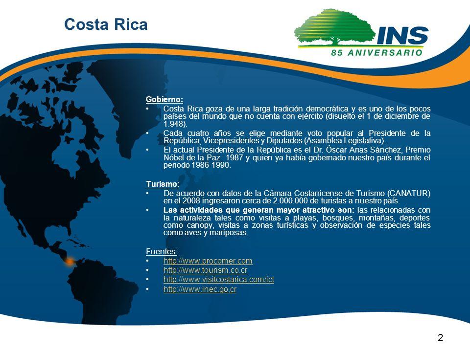 Costa Rica Gobierno:
