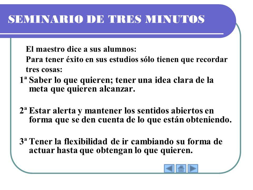SEMINARIO DE TRES MINUTOS