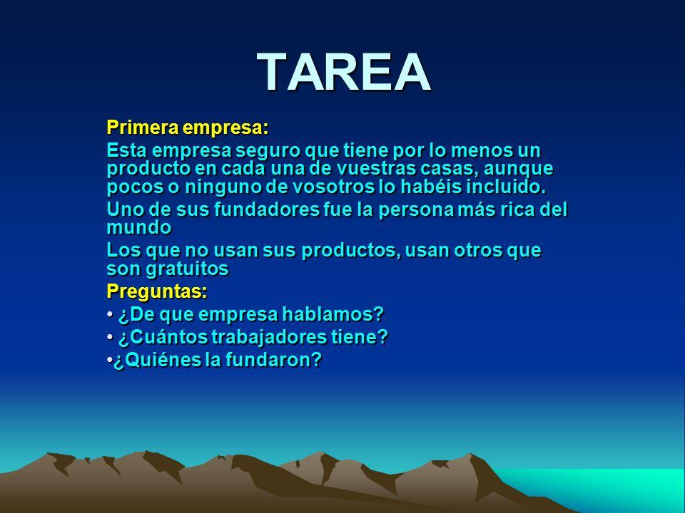 TAREA Primera empresa: