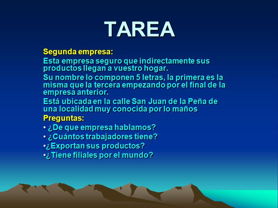 TAREA Segunda empresa: