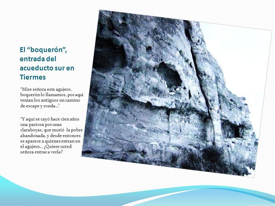 El boquerón , entrada del acueducto sur en Tiermes