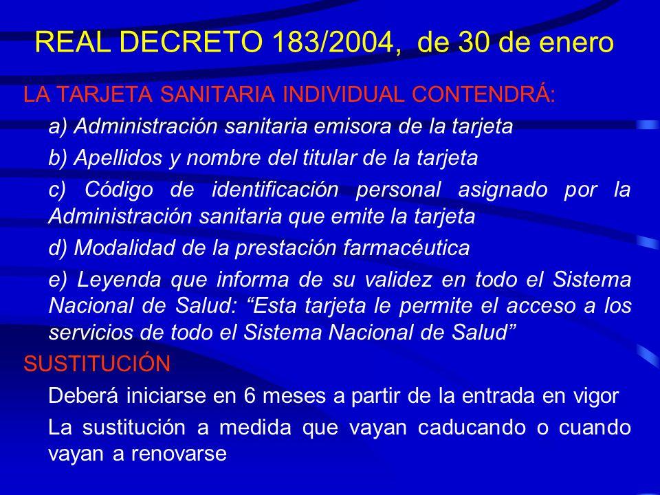 REAL DECRETO 183/2004, de 30 de enero