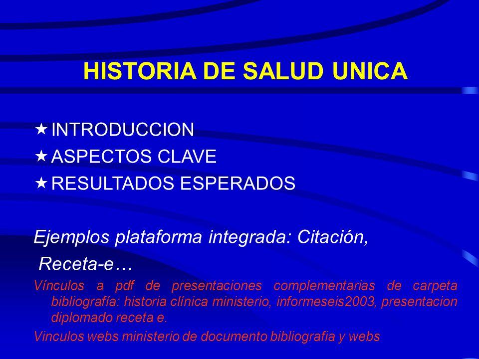 HISTORIA DE SALUD UNICA