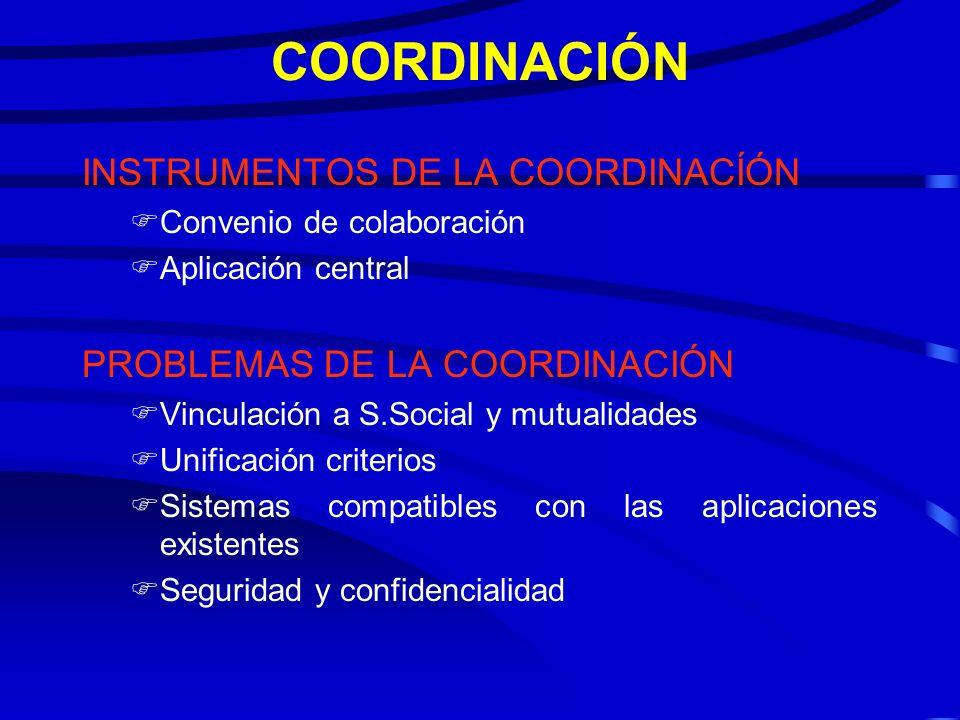 COORDINACIÓN INSTRUMENTOS DE LA COORDINACÍÓN