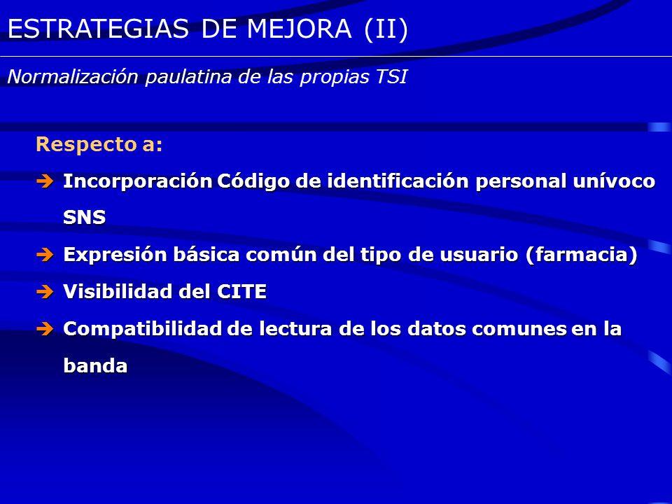 ESTRATEGIAS DE MEJORA (II)