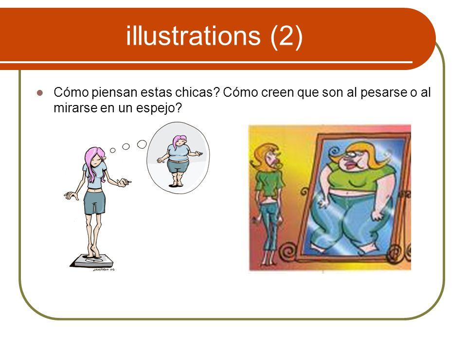 illustrations (2) Cómo piensan estas chicas.