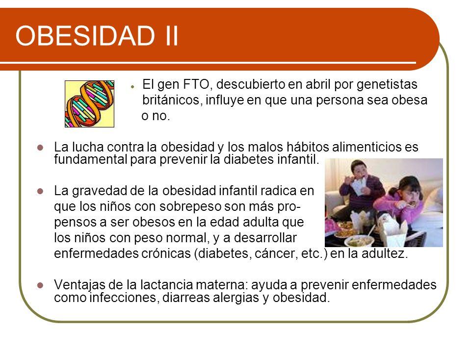 OBESIDAD II El gen FTO, descubierto en abril por genetistas