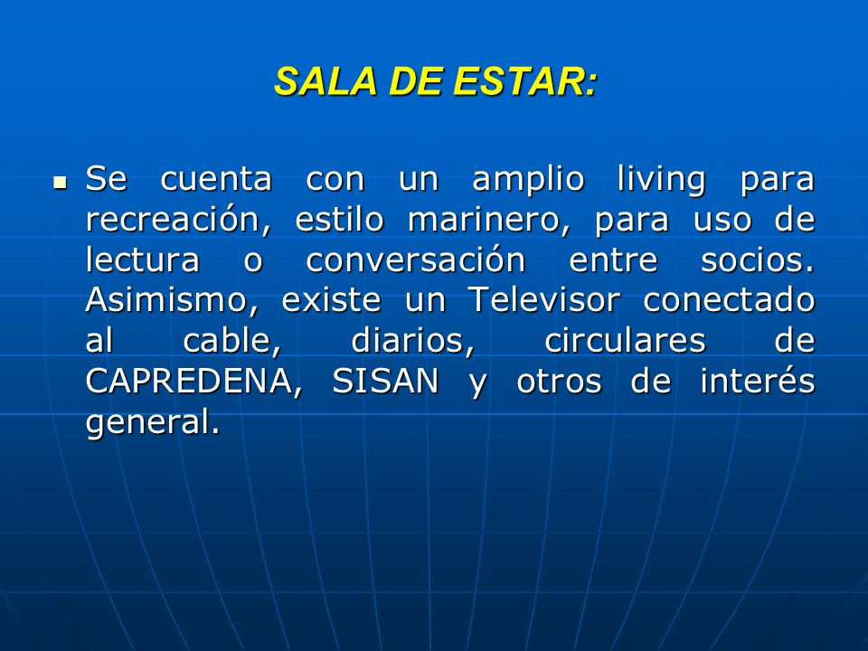 SALA DE ESTAR: