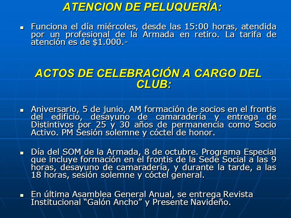 ATENCION DE PELUQUERÍA: