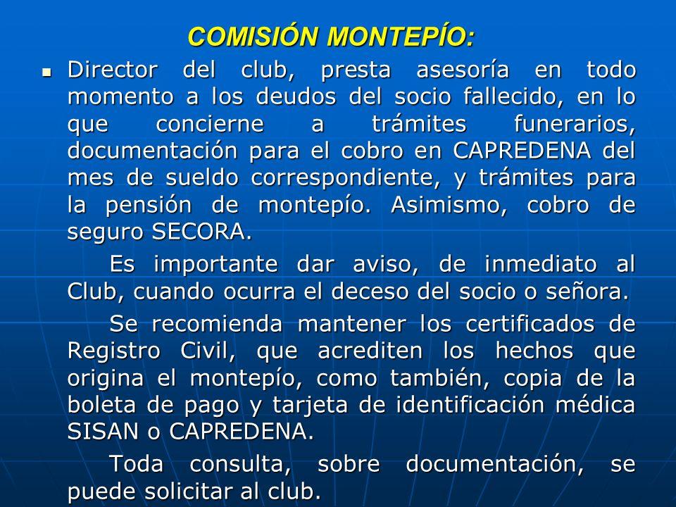 COMISIÓN MONTEPÍO: